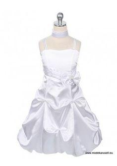 A linie Knielanges Blumenmädchen Kleid