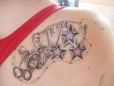 Star tattoos on the back2 300x225 Star tattoos on the back