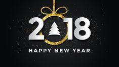 Новый год, 2018, New Year, 2018, snow, 8k