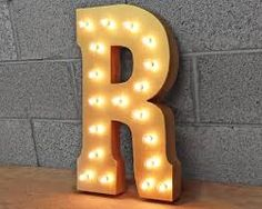 Yellow Letter Vintage Marquee Signs
