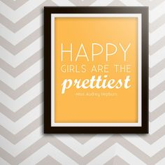 11x14 Print Happy Girls Are The Prettiest by lollieland on Etsy, $13.50