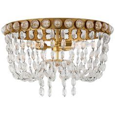 Navona Medium Basket Flush Mount in Gild and Cry (JN by Visual Comfort Visual Comfort Lighting, Circa Lighting, Flush Mount Ceiling, Candelabra, Clear Crystal, Light Colors, Bulb, Basket, Ceiling Lights