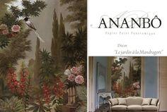 Paysages sépia - Le jardin à la Mandragore 187x250cm - Ultra mat - 2 lés de 93,5cm