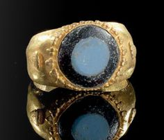 A gold ring, Roman, 1st century A.D.