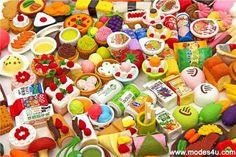 Fun Food-themed Erasers