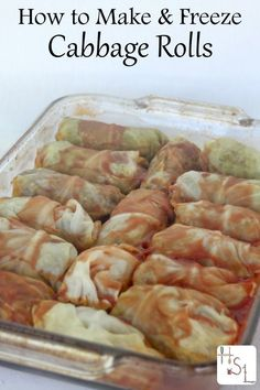 Make cabbage rolls with fresh garden produce with this easy method that allows for freezing of extras for a quick winter dinner later.