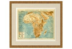 1890s Map of Africa on OneKingsLane.com
