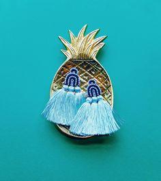 Duster Earrings in Sky Blue / Coralie Reiter Jewelry