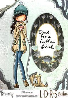 Copics: Skin: E000, E00, E01, E11, E13 Hair: E71, E77, E79 Hat/Shirt: BG72, BG75, BG78 Jeans: B93, B95, B7, B99 Coat/Shoes: E41, E42, E43, E44 Cup: RV11, RV04, Gold Marker Dog: E41, E42, E43, E44, C3, Gold Marker