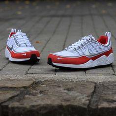 detailed look 462c2 889e2 Nike Air Zoom Spiridon 16 White-Metallic Silver-Red