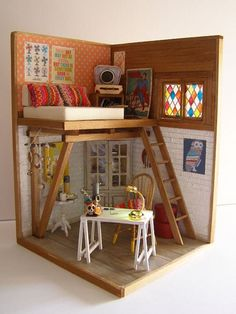 """Reserved for Nancy Pennell Hand-made miniature Scene scale """"Mexico lindo! Vitrine Miniature, Miniature Rooms, Miniature Crafts, Miniature Houses, Miniature Furniture, Dollhouse Furniture, Diy Dollhouse, Dollhouse Miniatures, Barbie Furniture"""