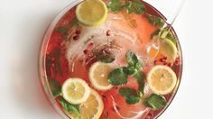 Every good party needs a Champagne punch recipe. Pomegranate juice adds a sweet-tart note—not to mention, a festive color.