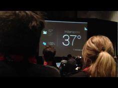 Google Glass user interface demo video filmed at SXSW