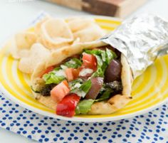 Meatless Monday from BlogHer.com: Grilled Vegetable Gyros from Oh My Veggies, yum!