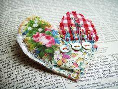 textile brooch # 2 by hens teeth, via Flickr