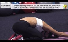 """Relieve sciatica pain caused by spinal stenosis with """"child pose"""" stretc..."""