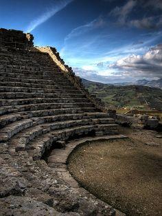 Amphitheatre in Segesta - Sicily - Italy