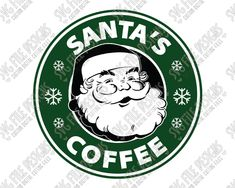 Santa's Coffee Starbucks Logo Cut File Set in SVG, EPS, DXF, JPEG, and PNG