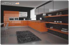 Turuncu Mutfak Dekorasyonu