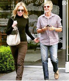 Ellen Degeneres And Portia, Portia De Rossi, Khaki Pants, Hipster, Style, Fashion, Swag, Moda, Khakis