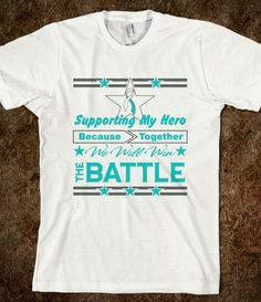 Cervical Cancer Supporting My Hero Shirts #CervicalCancer #CervicalCancerawareness #CervicalCancersupport