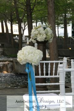 White Wedding Flowers For Aisle Decoration By Dallas Florist AntebellumDesign