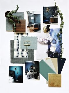 How to mood board a moody bedroom. Mood board creation for a moody bedroom. Office Inspiration, Layout Inspiration, Moodboard Inspiration, Interior Inspiration, Design Blog, Layout Design, Web Design, Design Trends, Interior Design Layout