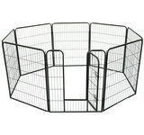 Pawhut 40 8 Panel Heavy Duty Pet Dog Portable Exercise Playpen * To view further for this item, visit the image link.
