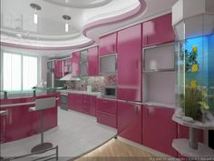 Pink Color Schemes Offering Symbolic and Romantic Interior Design Ideas-love the color pink here!