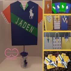 Horsemen Party Package (Include: Invitation,plates,cups, Gift Bag And Centerpiece) Regarding Polo Party Decorations - Best Home Decor Ideas Polo Baby Shower, Boy Shower, Baby Shower Favors, Baby Shower Themes, Baby Polo, Shower Ideas, Hubby Birthday, 10th Birthday Parties, 50th Birthday