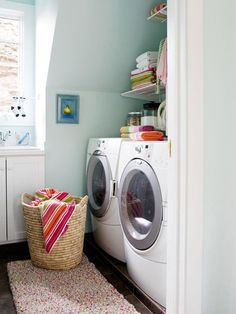 Style Spotter @jen Jones showed readers how to organize their laundry room. Read her tips here: http://www.bhg.com/blogs/better-homes-and-gardens-style-blog/?socsrc=bhgpin102612organizelaundry