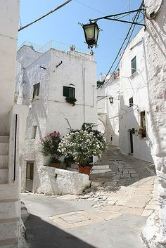 There is nothing this ancient and wonderful in the US... Ostuni, Apulia, Italy