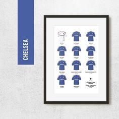 Chelsea 2012 Champions League Winners Football Poster Art
