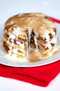 Light and fluffy pancakes with a hint of cinnamon, frosted with sweet cream cheese frosting! The most popular recipe on my blog is the Classic Pancakes recipe, it's a simple no-fail recipe that people on Pinterest love and have repined thousands of times. And ever since I found the golden recipe of Nutella Cinnamon rolls,...Read More »