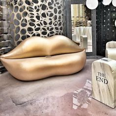 #corsocomo10 #gufram #poltrona #labbra #lips #lapide #design #designweek #designweek2016 #milano #corsocomo #exposition #gold #interior #industrial #designer #fashion #glamour #girl by zerbnik Corso Como, Lips, Glamour, Instagram Posts, Design, The Shining