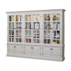 """A&E Wood Designs French Restoration Brighton 86"""" Bookcase"""