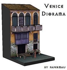 Here is the Venice Diorama, broken up in the Sketchup program and the cutouts, ready to assemble.  Now I will assemble and document the p...