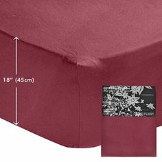 From 27.99 Homescapes Extra (18) Deep Pure Cotton King Size Fitted Sheet Plum Plain Dyed 200 Thread Count 100% Cotton Percale Anti Allergen Bedding
