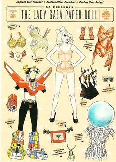 Bonecas de Papel: Lady Gaga