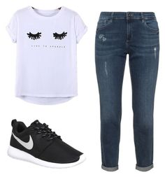 """""""School outfit #1"""" by danielle09-1 on Polyvore featuring Chicnova Fashion and NIKE"""