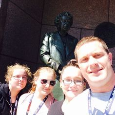 Selfie with Eleanor Roosevelt #clv2019