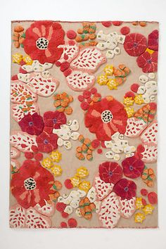 Ahhh, such a dream floral rug.  Like being in the English countryside.  From Anthropologie.