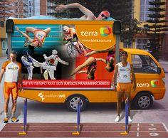 Activación Terra durante los Juegos Panamericanos.
