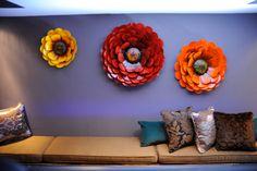 Metal wall flowers.