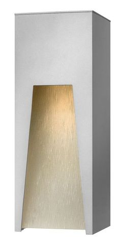 "Hinkley Lighting 1764 16"" Height 1 Light Dark Sky Outdoor Wall Sconce from the K Titanium Outdoor Lighting Wall Sconces Outdoor Wall Sconces"