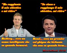 Rosberg ha vinto e si ritira. E Renzi?