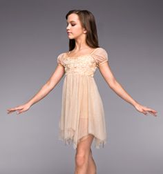 """Heavenly"" Girls Lyrical Dress - Style No TH4022C - we don't need to throw modesty out the window to dance I see so many outfits on Discount dance that proves that we can stay modest and dance"