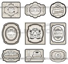 Set of retro vintage labels   Stock Vector Graphics   ID 3243869