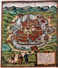 Mexico City in the early 16th century - 42-26406178 - Derechos protegidos - Fotografía de stock: Corbis