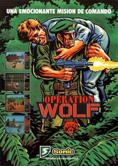 Operation Wolf (Arcade Flyer) #Retrogaming #GamersUnite